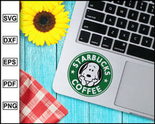Load image into Gallery viewer, Starbucks Coffee Snoopy Style Svg, Starbucks Svg, Coffee, Decal Cricut, cut file for cricut eps png dxf silhouette printable files