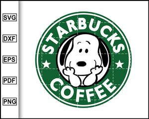 Starbucks Coffee Snoopy Style Svg, Starbucks Svg, Coffee, Decal Cricut, cut file for cricut eps png dxf silhouette printable files
