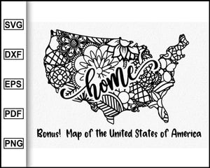 New Jersey Svg, Mandala State, Home State Svg, United State Of America, Mandala Svg, State Cutting Files Clipart Vector Silhouette