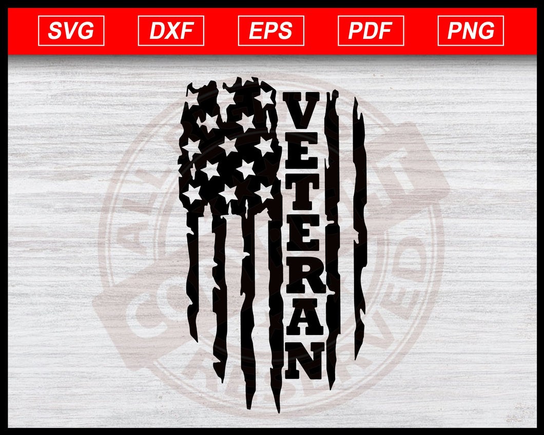 Distressed USA Flag svg, Veteran USA Flag, American flag svg Instant Download Svg Cricut Cut Files Silhouette