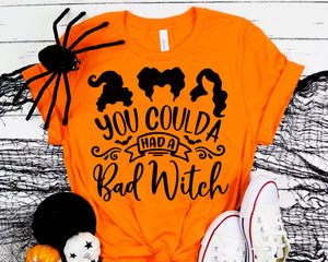 You coulda had a Bad Witch Svg Halloween Costume Svg Halloween Party Svg Cameo Cricut Halloween Shirt svg eps png dxf Printable Files