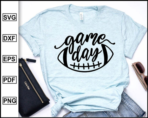 Football Game Day svg, Football svg Football T shirt svg Soccer svg Football clipart Sports svg cut file for cricut eps png dxf silhouette cameo