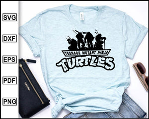 Teenage mutant ninja turtles svg, ninja svg, turtles svg, tortoise svg, ninja fortnite svg, cut file for cricut eps png dxf silhouette cameo