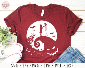 Jack and Sally svg, Jack Sally Boogieman, Nightmare Before Christmas, Halloween Nightmare Clip Art, Halloween SVG, oogie boogie svg, cut file for cricut eps png dxf silhouette cameo