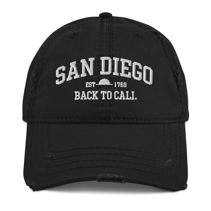 SAN DIEGO EST. DISTRESSED HAT