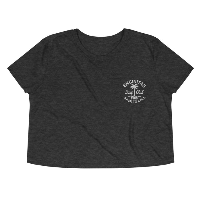 SURF CLUB EMBROIDERED CROP TEE