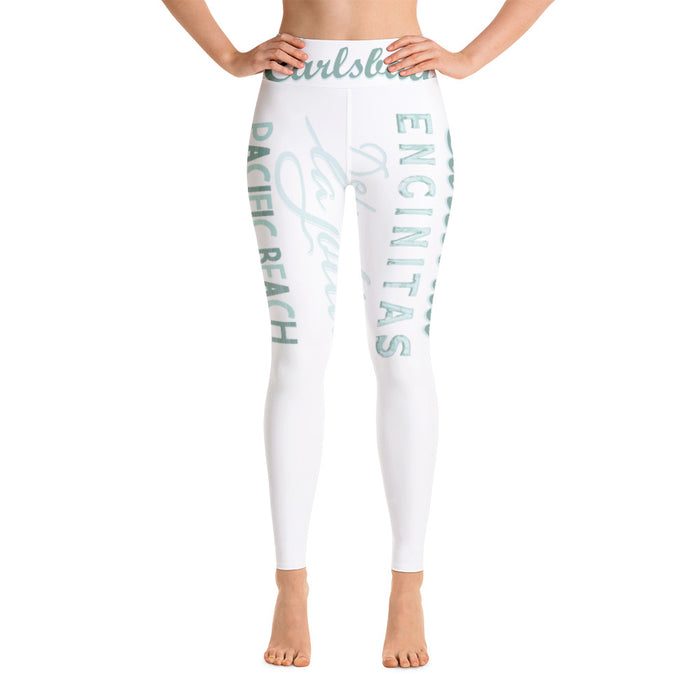 Coastal White Yoga Leggings