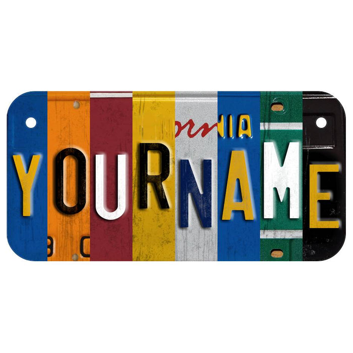 CUSTOM BIKE-SIZE WOODEN LICENSE PLATE Classic Collage