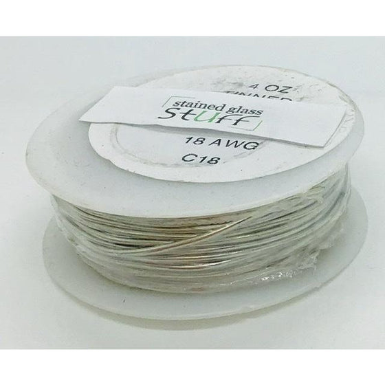 Tinned Copper Wire, 18 gauge, 4 oz roll