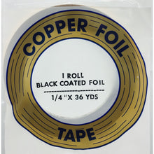"Edco 1/4"" x 36 yards black coated foil tape"