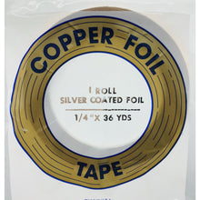 "Edco 1/4"" x 36 yards silver coated foil tape"