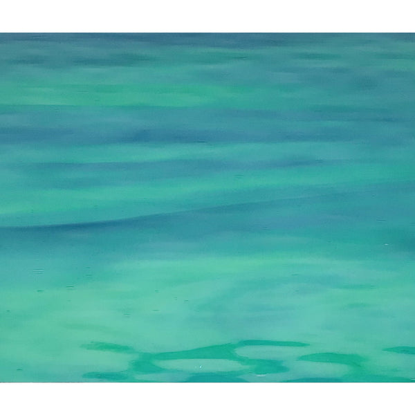 Oceanside 423.1W-F, Green & Aqua Blue Waterglass
