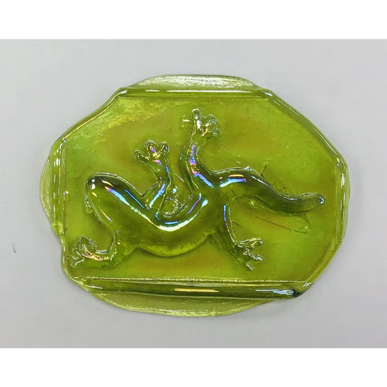 Pressed Glass Jewels - Irid Gecko