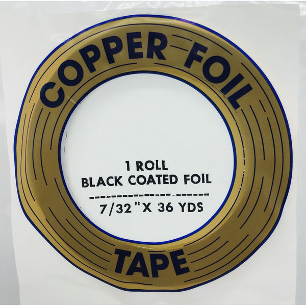 "Edco 7/32"" x 36 yards black coated foil tape"