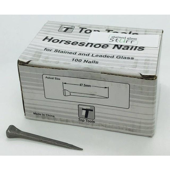 Top Tools Horseshoe Nails, Box of 100 Nails