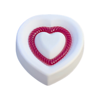 Colour de Verre Fluted Heart Mold