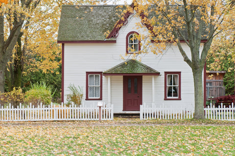 image of the outside of a house in the fall
