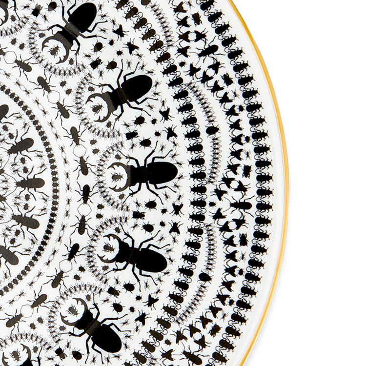 "INSECT MANDALA: 12"" Carver Plate (set of 4)"