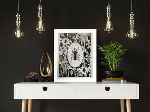 ELEMENTAL BEETLE print : black/ white