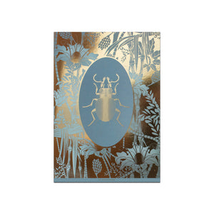 ELEMENTAL BEETLE print : grey/ gold