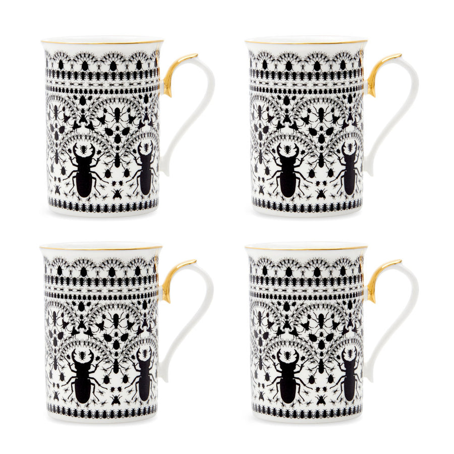 INSECT MANDALA: Coffee Mug (set of 4)