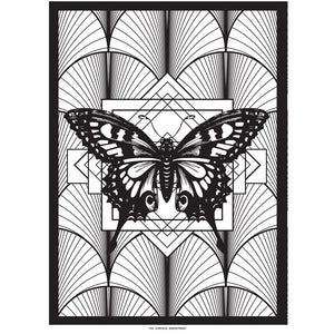 DECO BUTTERFLY print : black/ white