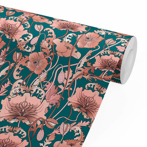 OPIUM BLUSH TEAL: Wallpaper