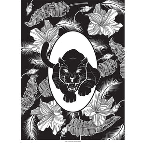ELEMENTAL PANTHER print : black/ white