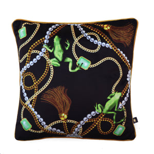 TIANA ANTIQUE: velvet cushion