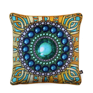ZELLANDINE'S EMERALD BROOCH: velvet cushion