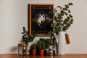 DECO SCARAB A4 print: black/ gold