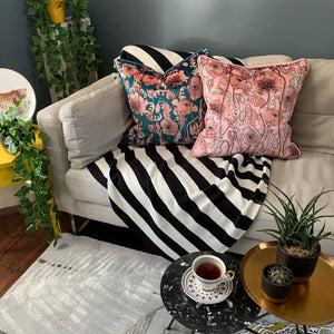 OPIUM BLUSH PINK: velvet cushion