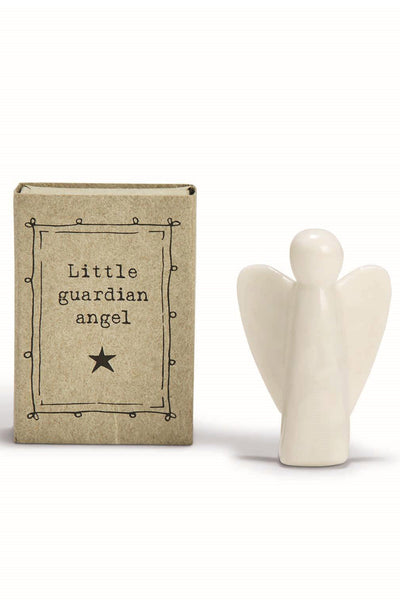 Little Porcelain Guardian Angel in a Gift Box