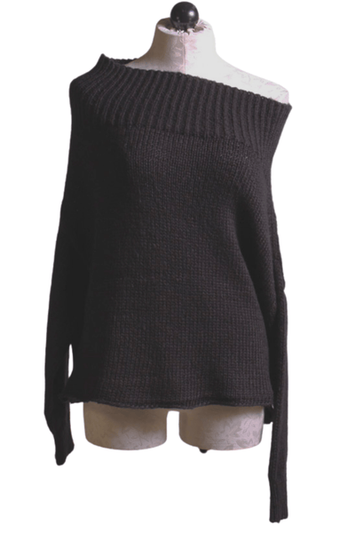 The Ophelia off the shoulder black sweater