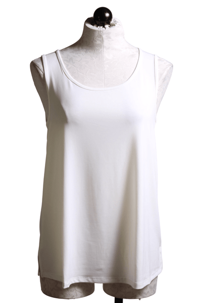 White loose fitting tank top