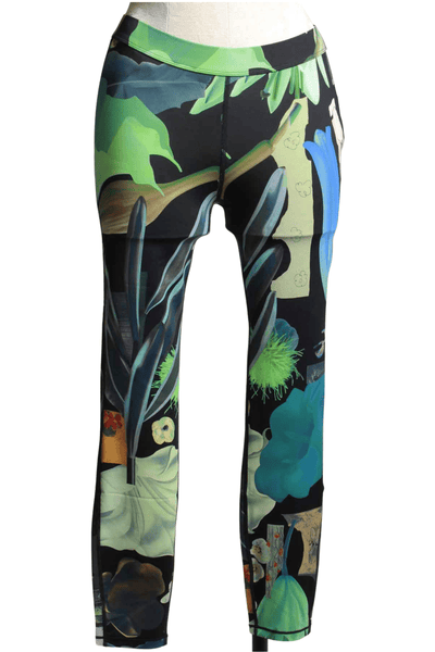 Abstract Floral Print Leggings by JNBY.