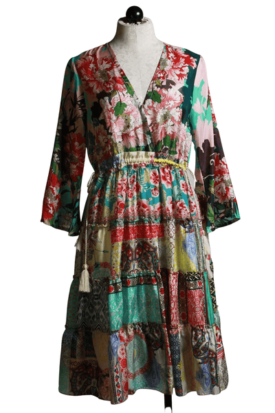 patchwork floral Gigi Dress by Johnny Was