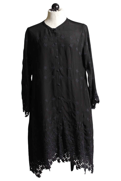 Lace Black eyelet Sydnee Tunic by Johnny Was