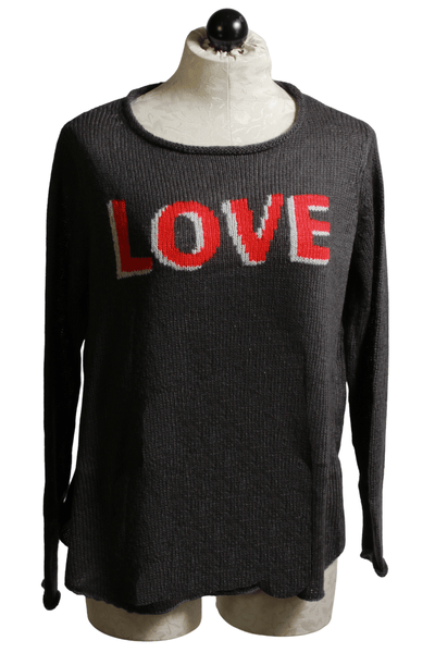 coast gray 3D 'Love' by Wooden Ships sweater