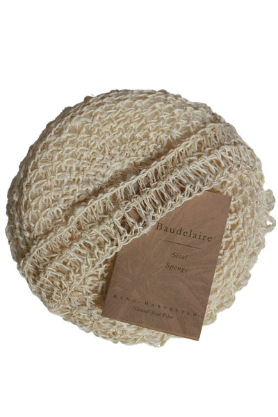 round shaped sisal body sponge by Baudelaire