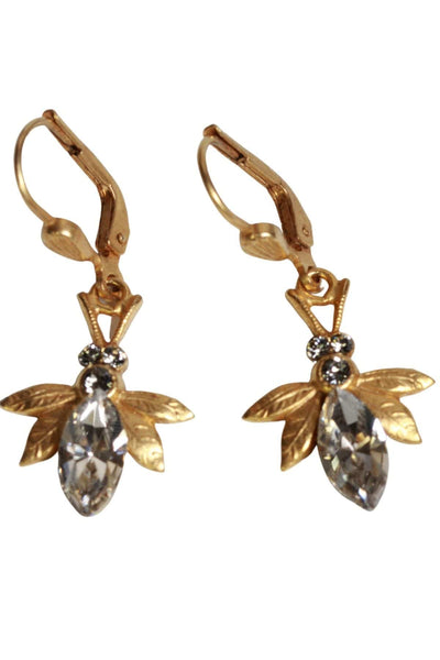 Bee Earrings by La Vie Parisienne with Clear Crystals