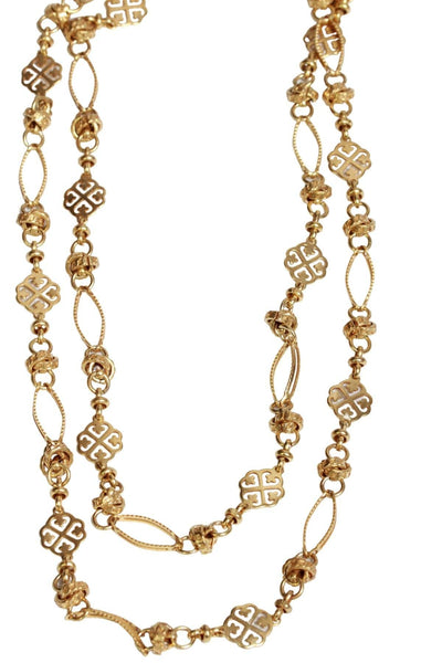 Double Strand Gold filigree necklace