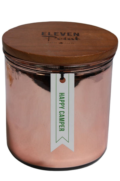 A Happy Camper fragranced candle by Eleven Point
