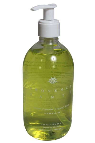 16.9 oz. clear pump bottle of gentle Liquid ph-balanced Soap in Vervain fragrance by Baudelaire