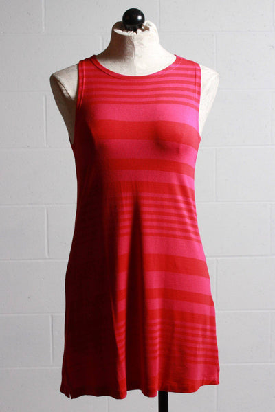 Alembika Striped Tank Fuschia Red RT315F - Inspire Me