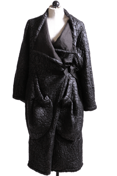Alembika Crackled Wrap Jacket Black BJ401B - Inspire Me