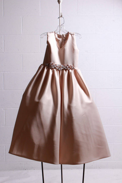 Amalee Accessories Flower Girl Dress Champagne FG307 - Inspire Me