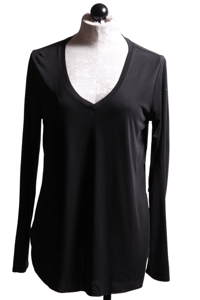 Another Love Lilah V Neck Tee Black VCKN1046 - Inspire Me