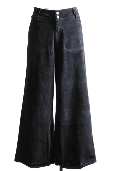 Baci Fashion Wide Leg Velvet Pant Black 21676 - Inspire Me