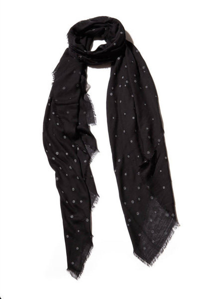 Blue Pacific Vintage Icon Peace Scarf Black VIP-1 - Inspire Me